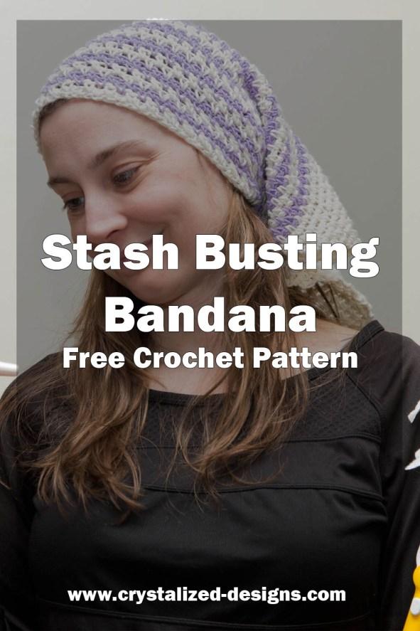 Stash Busting Bandana Free Crochet Pattern by Crystalized Designs