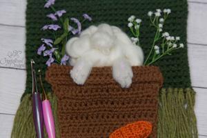 Bunny Butt Wall Hanging Crochet Pattern