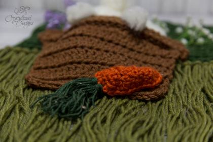 Bunny wall hanging carrot crochet pattern