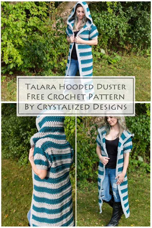 Talara Hooded Duster Cardigan Free Crochet Pattern