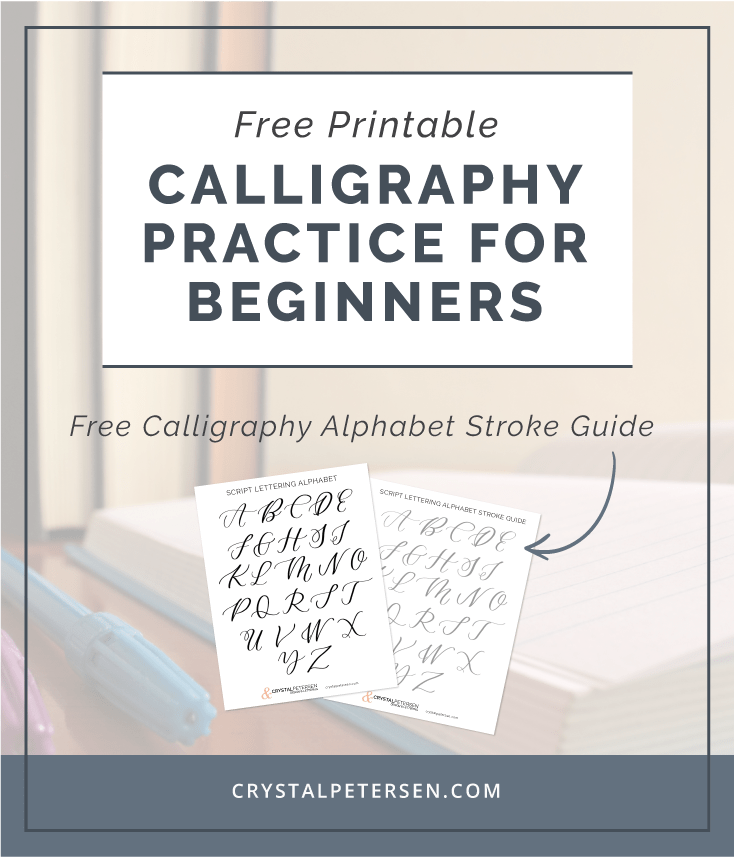 photo about Printable Calligraphy Practice named Free of charge Calligraphy Alphabet Printable Crystal Petersen