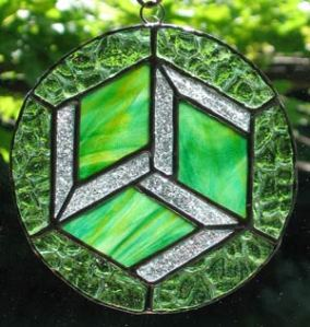 Antakarna stained glass Crystal grid. $100