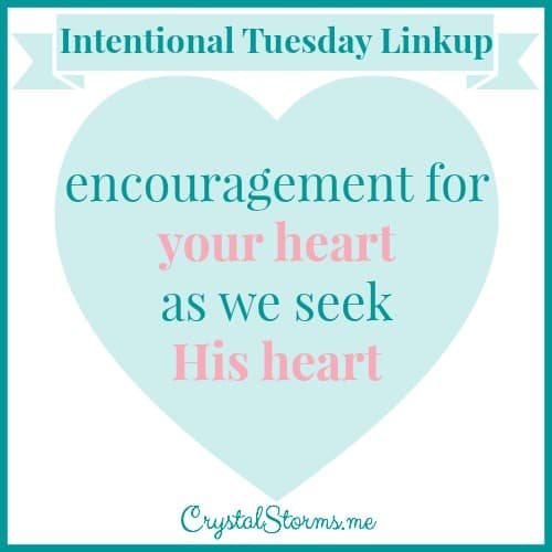 Come share words that will build up & bless others at the Intentional Tuesday Linkup