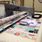 Longarm quilting Kelli's Christmas quilt