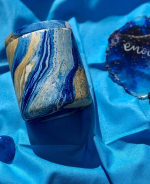 luxury Blue gold marble candles