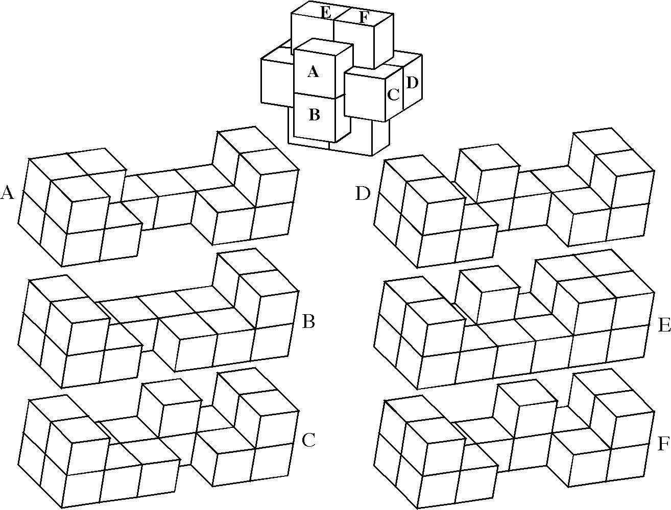 Wood Puzzle Pieces