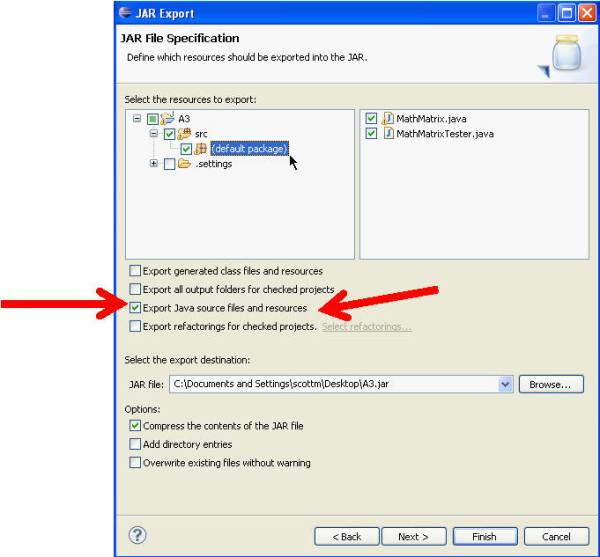 Android Development: Creating a jar File in Eclipse