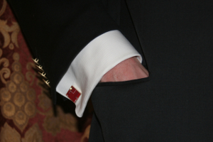 Hand in jacket pocket