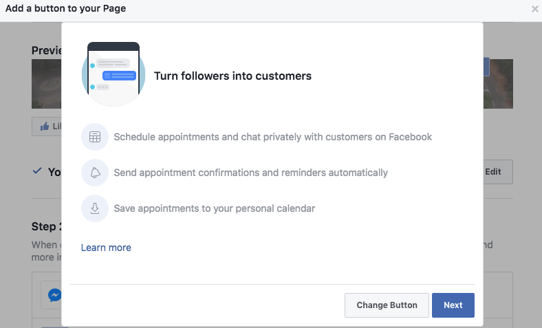 facebook appointment setting