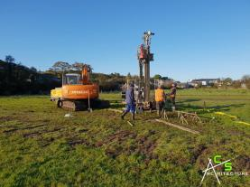 Core testing on the New Distillery site