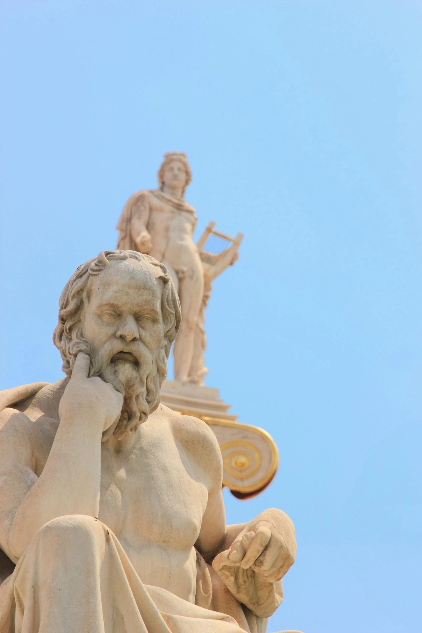 statue of philosopher, Plato who understood challenges