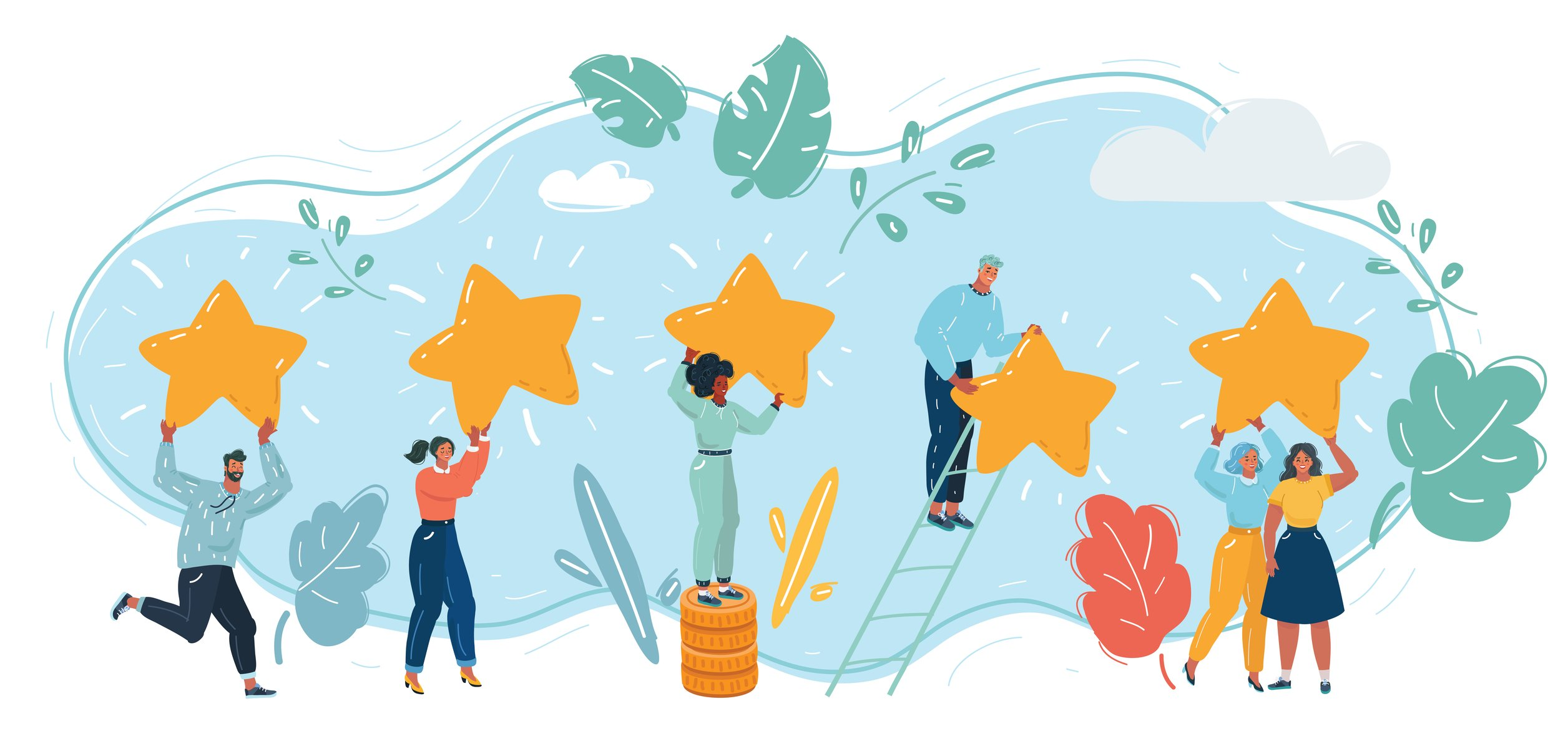 Celebrating Customer Service Successes illustration