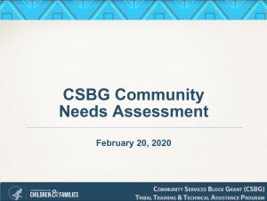 CSBG Community Needs Assessment Presentation Slide February 2020