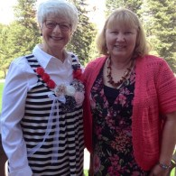 Ruth Koch, left, and me