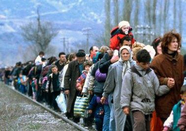 Refugees seek safe refuge. Photo courtesy of the UN Refugee Agency.