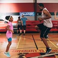 "Alena Pitts jumps rope with T.C. Stallings in ""War Room"""