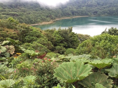 Lake Botos, the southern lake fills an inactive crater in Costa Rica