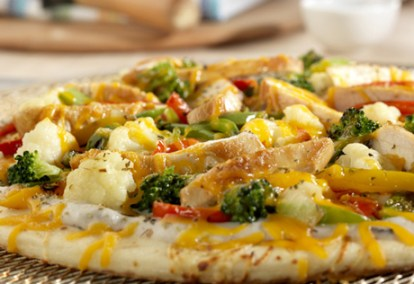 Chicken And Stir-Fry Vegetable Pizza