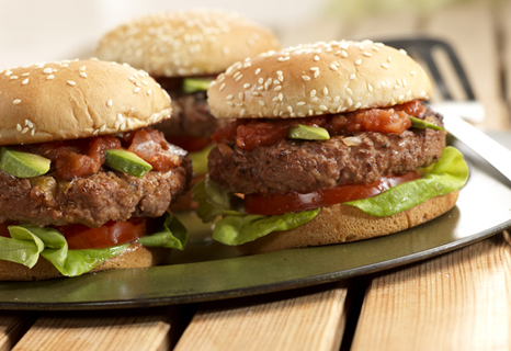 Spicy Onion Burgers