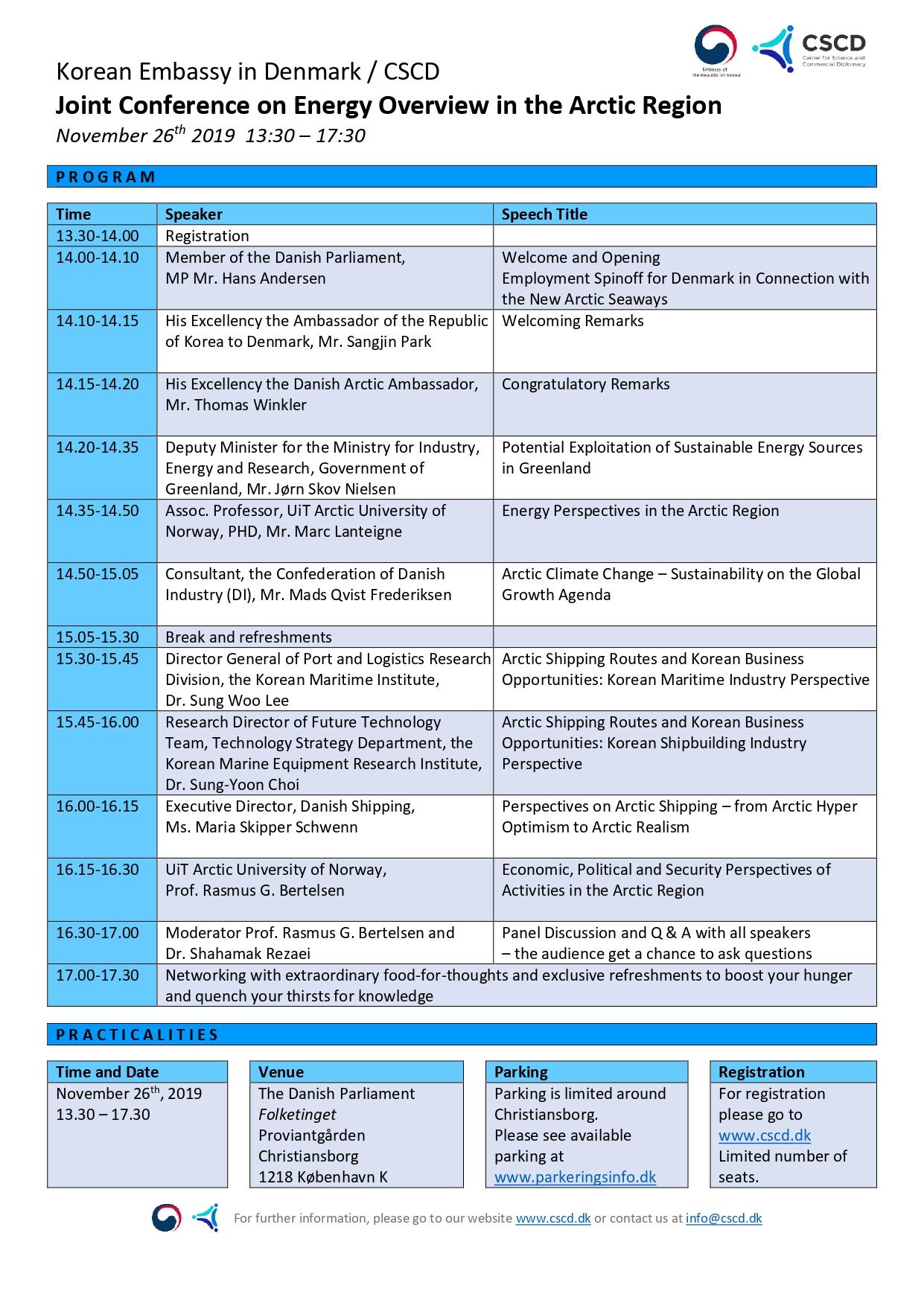 Program Energy Overview in the Arctic Region Nov 26