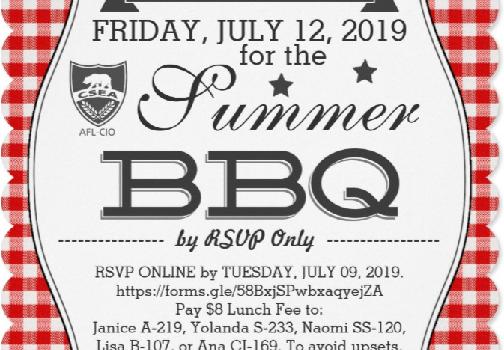 Summer BBQ 2019 Flyer
