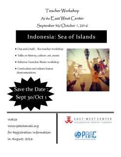 Fall 2016 Indonesia Teacher Workshop 2 247x320 - Teacher Workshop: Indonesia Sea of Islands