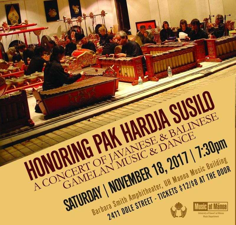 Gamelan Ensembles Honoring Pak Hardja Susilo poster