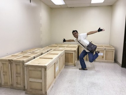 victory! all crates have been moved into the room!