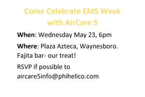 Celebrate EMS Week with AirCare 5