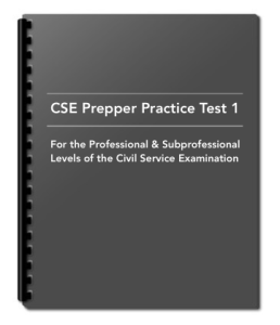 Civil Service Exam Reviewer from PHP199 - CSE Prepper