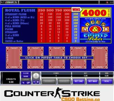 CS GO Aces and Eights Video Poker Games
