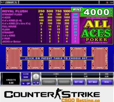 CS GO All Aces Video Poker Games