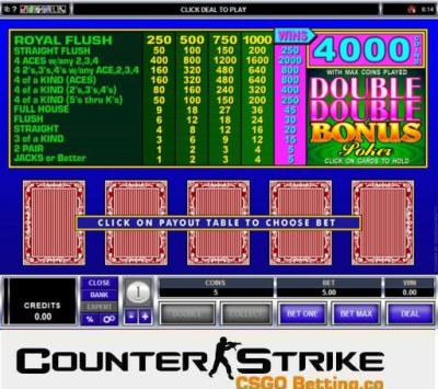 CS GO Double Double Bonus Poker Games