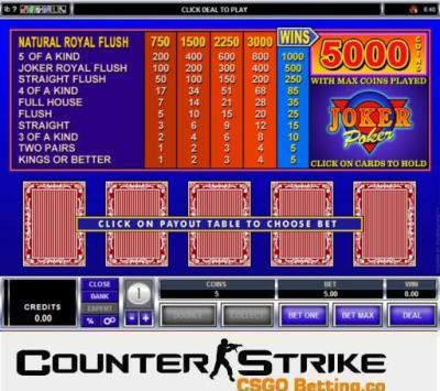 CS GO Joker Poker Games