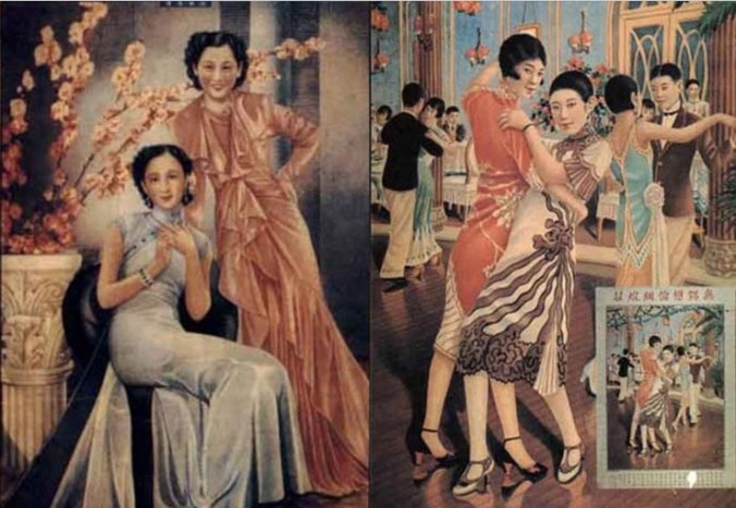 As times progressed, so did attire and Tientsin's broken moon society.  Instead of meeting a teahouses and salt pork shops, more and more prostitutes frequented places such as the French Club or the Blue Fan, which catered more toward foreign customers - online sources