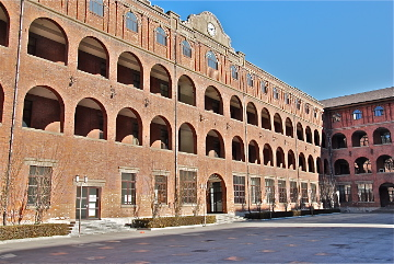The old Italian barracks, which housed US Marines after World War II - photo by C.S. Hagen