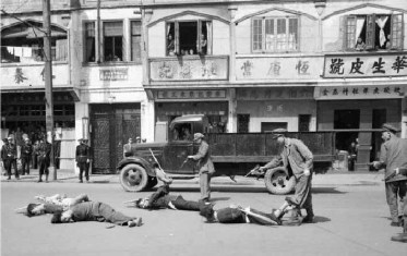 Nationalist soldiers executing communists in Shanghai - photo from a friend