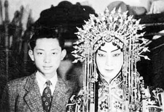Mei Baojiu () left with his mother Mei Lanfang (), both famous opera singers.