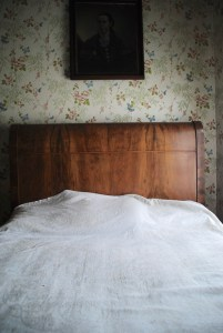 Reoccurring pillow indentation inside Houston's bedroom where he died - photo by C.S. Hagen