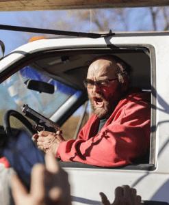 DAPL employee brandishes handgun before driving truck through crowd - online sources