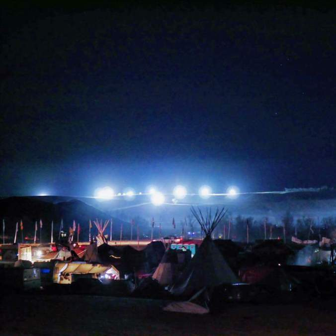 Oceti Sakowin at night - photo provided by Steve Gross