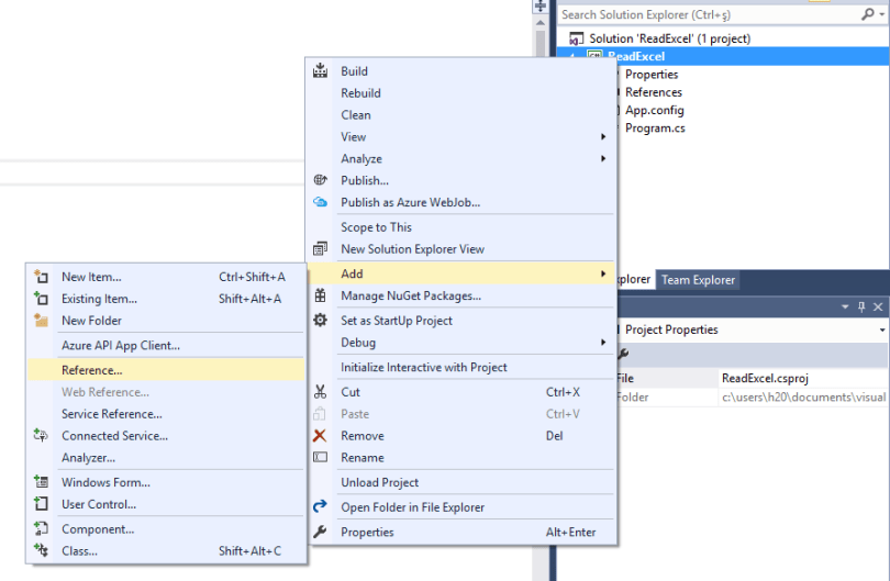 Reading Excel file in C# Windows Form Application – C# Programming
