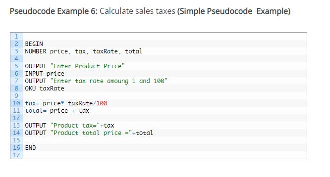 pseudocode examples