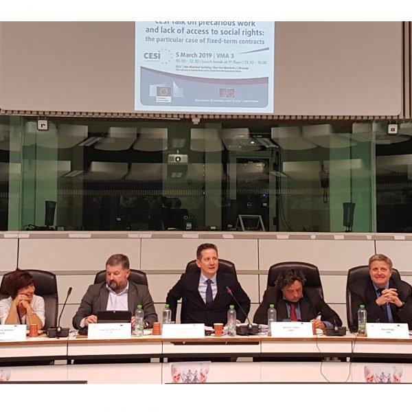 #CESI talks sobre trabajo precario y la falta de acceso a la protección social