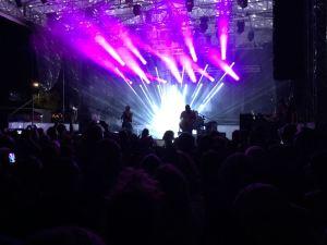 Lo splendido spettacolo di luci per Morcheeba @ Beky Bay
