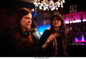 Susanna Nicchiarelli con Trine Dyrholm sul set di Nico