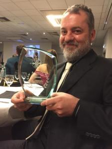 Francesco Faralli con il premio Best Music Video