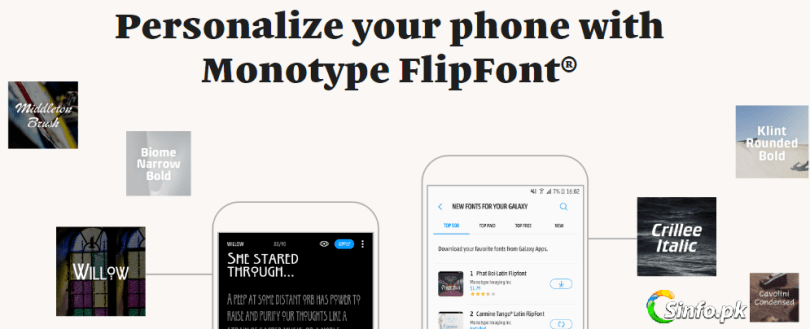 Monotype FlipFont APK For Samsung - How To Change Android Fonts