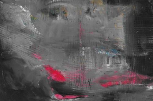 Landscape Red Acrylbild