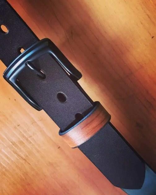Dark Brown Hermann Oak Belt With Natural Keeper